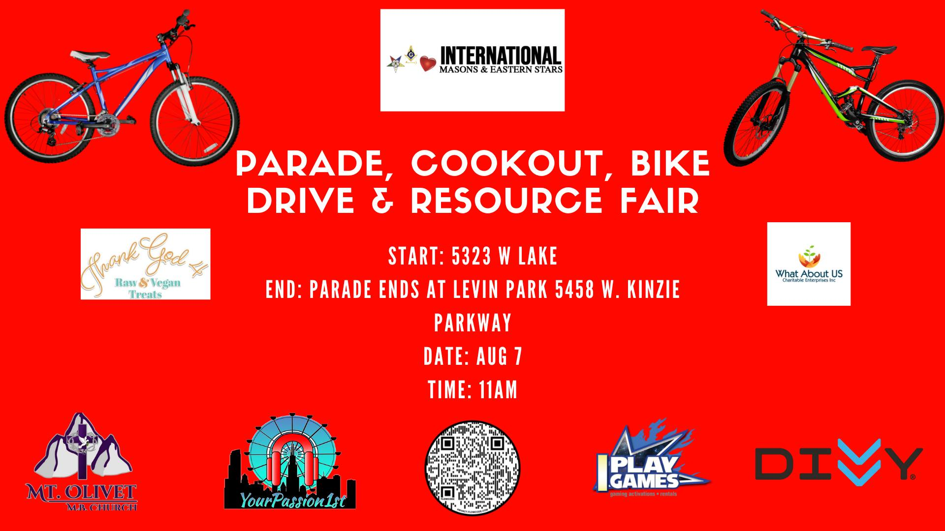YourPassion1st Parade, Cookout, Bike Drive & Resource Fair